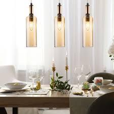 etc shop hängeleuchte design decken pendel le glas flaschen wohn ess zimmer beleuchtung flur hänge leuchte kaufen otto