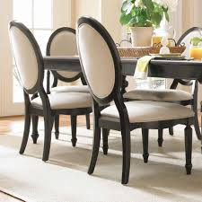 Fabulous Upholstered Dining Chairs And Dark Oak Table On