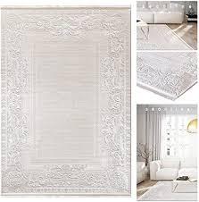 eleganter 3d effekt fransen teppich 3980 b mit bordüre in