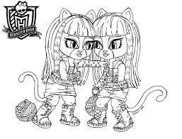 Free Coloring Media Cool Monster High Characters Pages