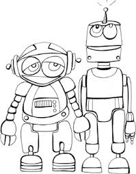 Space Coloring Book Pages Printable Robots