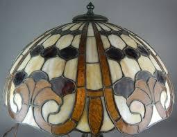 Duffner And Kimberly Lamp Base by Duffner And Kimberly Geometric Brick Pattern Lamp Circa 1910