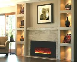 Stone Fireplace With Built Ins Wall Dining Room Electric Within Modern In Shelves Electr