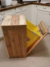 Todays Post Is Only To Speak For This Pallet Wood Kitchen Trash Bin Having Inside Installed Plastic And Just A Best Solution Organize The