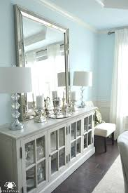 Dining Table And Matching Buffet Restoration Hardware French Casement Cabinet In Room With Lamps