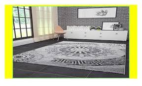 wohnzimmer teppich modern hohe qualität meliert medallion