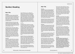 Our Double Page Spread Is Populated With Navigation And Template Text