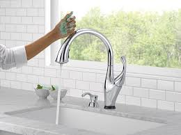 Delta Touch Faucet Battery Life by Delta Faucet 9192t Sd Dst Addison Single Handle Pull Down Kitchen
