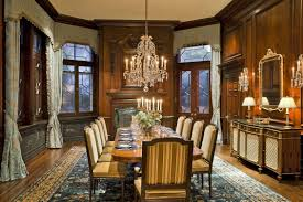 Elegant Victorian Dining RoomAt Room Table