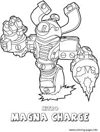 Skylanders Swap Force Tech First Edition Nitro Magna Charge Coloring Pages