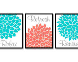 Coral Colored Decorative Items by Coral Bathroom Etsy