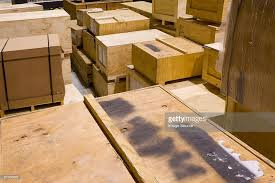 Crates In A Warehouse Stock Photo