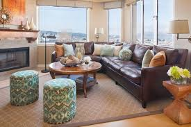 Brown Sectional Ideas