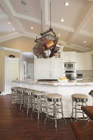 Vaulted Ceiling Ledge Decorating Kitchen Traditional With White Cabinet Coffered
