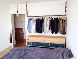 diy kleiderstange fürs schlafzimmer diy kleiderstange