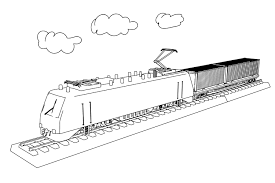 Exclusive Train Coloring Pages