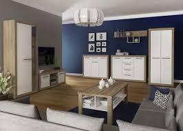 wohnzimmer komplett set a madryn 7 teilig farbe eiche sonoma weiß