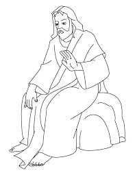 Jesus Coloring Page Pages Of On The Cross Printable Miracles