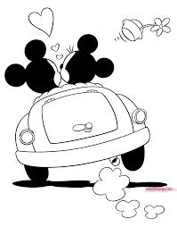 Classic Mickey Minnie In Car