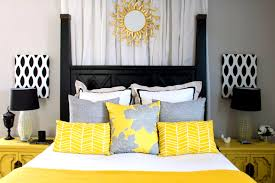 Yellow White And Gray Curtains by Bedroom Pleasing The Side Guest Room Redo Before After Bedroom