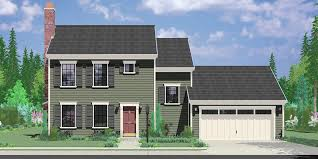 Pictures Small Colonial House by Colonial House Plan 3 Bedroom 2 Bath 2 Car Garage