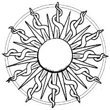 Sun Mandala Coloring Pages