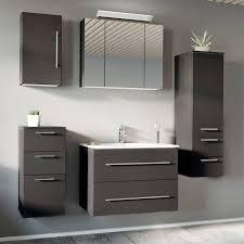badezimmermöbel set mit 80cm keramik waschtisch abuja 02 anthrazit seidenglanz b h t 181 200 46cm