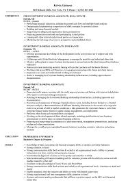Investment Banking Associate Resume Sample