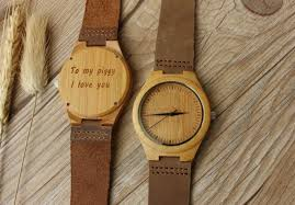 Romantic Gift Wooden Watch For Boyfriend Him Her Wife Girlfriend Anniversary Dad Husband Father Son 2493292