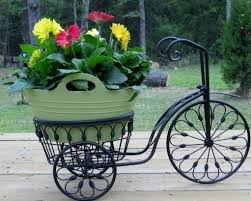 Patio Plant Stands Wheels by Bicycle Plant Stand Flower Pot Holder Iron Bike Indoor Outdoor