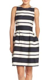 bold stripes give this gorgeous dress a modern feel just add a