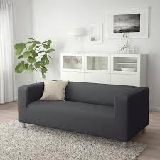 klippan 2er sofa vissle grau