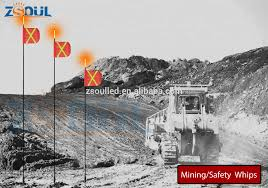 100 Truck Whips Fiberglass Tube Led Warning Flag Light For Car Forklift Mining