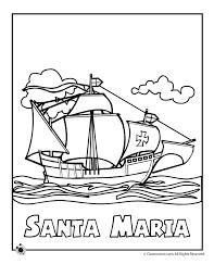 Santa Maria Coloring Page