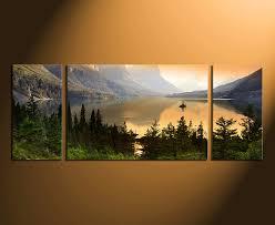 3 Piece Wall Art Home Decor Landscape Huge Canvas Print Mountain Photography