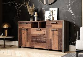 newroom sideboard sideboard wood beton optik vintage industrial highboard anrichte wohnzimmer kaufen otto