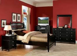 Red Black Wall Bedroom With Mesmerizing Traditional Look Walls White Painted Living Room