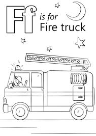 Click To See Printable Version Of Letter F Is For Fire Truck Coloring Page