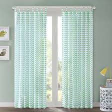 Blue Crushed Voile Curtains by Buy Mint Curtain Panels From Bed Bath U0026 Beyond