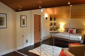 Modern Spaces with Mirrored Closet Doors