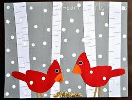 January Crafts Kindergarten Aspen Tree And Birds Winter Art Project Crafty