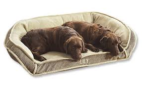 Memory Foam Dog Bed Fleece Deep Dish Dog Bed with Memory Foam