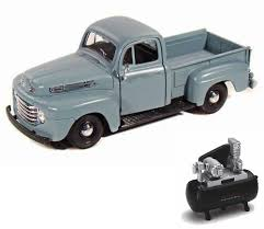 Diecast Car & Air Compressor Package - 1948 Ford F-1 Pickup Truck ... Amazoncom Johnny Lightning Jlcp7005 1959 Ford F250 Pickup Truck Ranger 4x4 Black 12v Kids Rideon Car Remote 164 Ln Grain Blue With Red Dump By Top Shelf Replicas Ertl 1994 F150 Replica Toy Youtube Hitch Tow 2018 F350 King Ranch Dually Jeans Greenlight Anniversary Series 5 1967 F100 Ford Transit Rac Recovery Truck 176 Scale Model Castle Toys Svt Raptor Becomes Top Selling Licensed Truck Among Kids Real Rc Fishing Boat Toyf150 Raptor Tckrubicon Wyatts Custom Farm 1956 Bobs Towing 118 Diecast Model