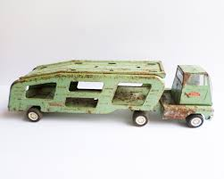 100 Toy Car Carrier Truck Vintage Tonka Rier Mint Green Hauler Etsy