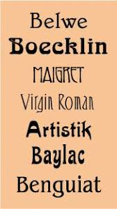 deco typography history graduel famille de caractères typographiques composée de trois