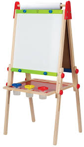 Kidkraft Easel Desk Uk by Amazon Com Hape All In One Wooden Kid U0027s Art Easel With Paper Roll