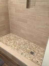 fresh sliced pebble tile shower floor walket site walket site