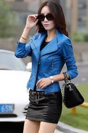 spring women leather jackets plus size blends sheepskin leather