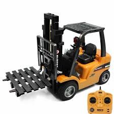 100 Toy Forklift Truck HUINA 1577 2 In 1 RC Crane RTR 24GHz 8CH 360
