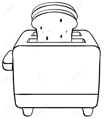28 Collection Of Bread Toaster Drawing
